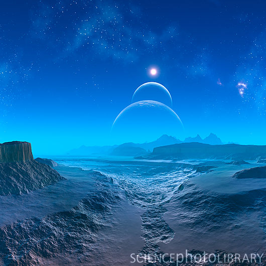 alien planet landscape photo - 8