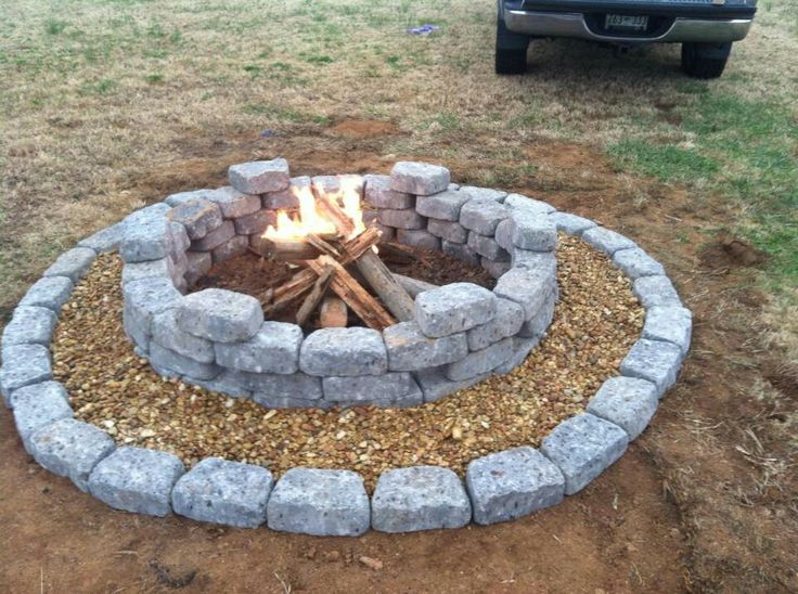 fire pit landscaping photo - 9
