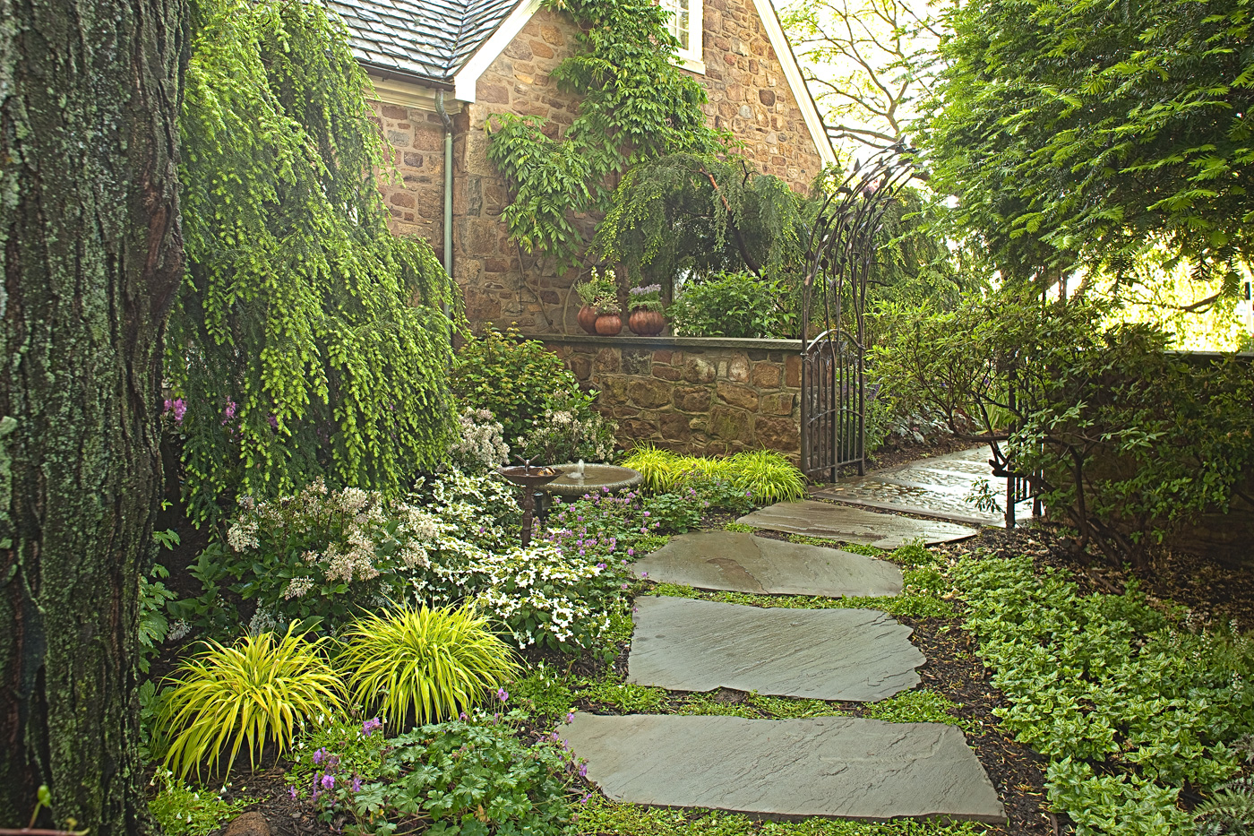 garden path landscaping photo - 3