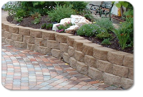 retainer walls landscaping photo - 3